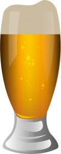 瓶ビールを注ぐ時にラベルを上に向けているか。